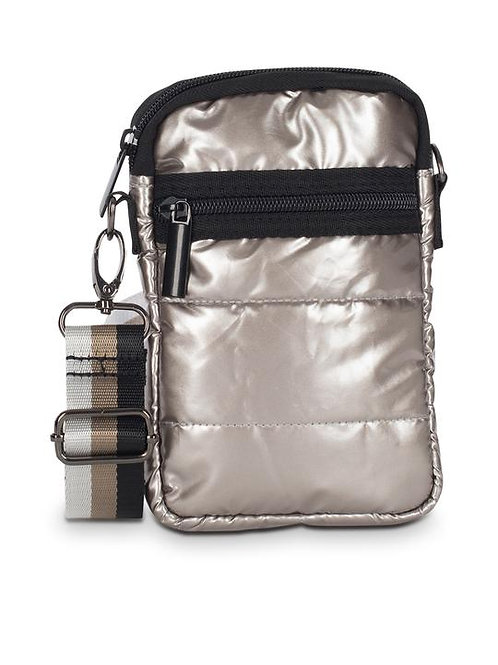Champagne Puffer Cell Phone Bag