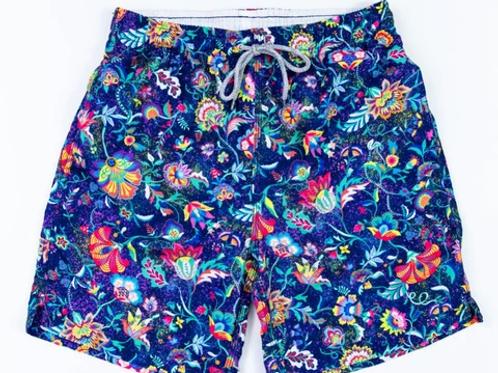 Michael's Navy Floral Swim Trunk