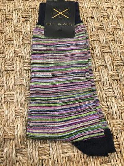 ELL & ATTY Wild Stripe Socks