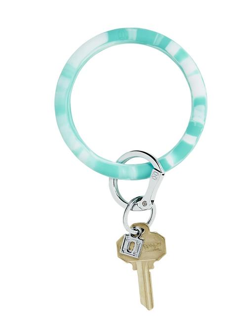 Marble Silicone Big O Key Ring