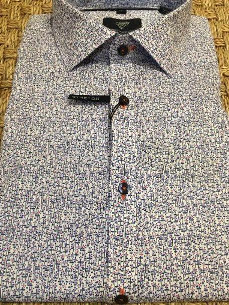 Forsyth of Canada Mens Wrinkle Free Floral Sportshirt-Modern Fit