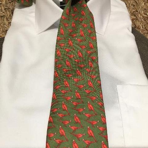 Peter Blair Silk Pheasant Tie-Olive