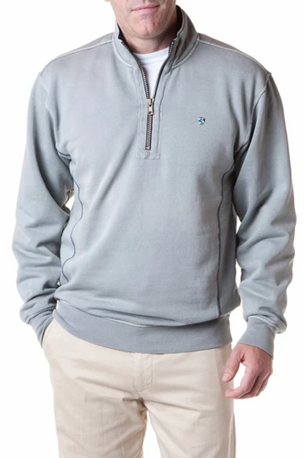 Castaway  Breakwater 1/4 Zip Sweatshirt-Gray