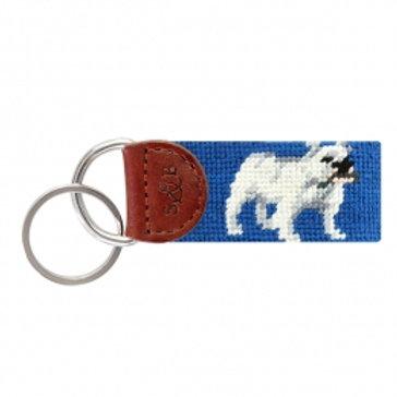 Smathers & Branson Bulldog Needlepoint Key Fob