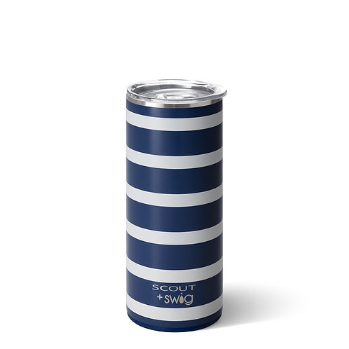 Skinny Can Cooler Nantucket Navy- Swig