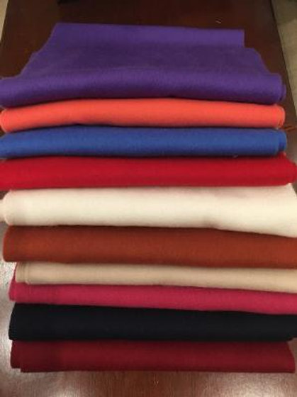 Alashan Merino Wool and Cashmere Solid Scarves