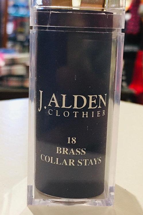 J. Alden Brass Collar Stays