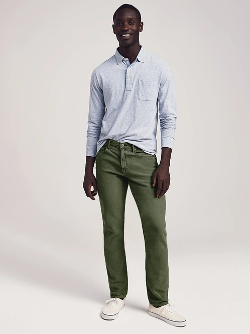 Faherty Brand Stretch Terry 5 Pocket Pant-Olive
