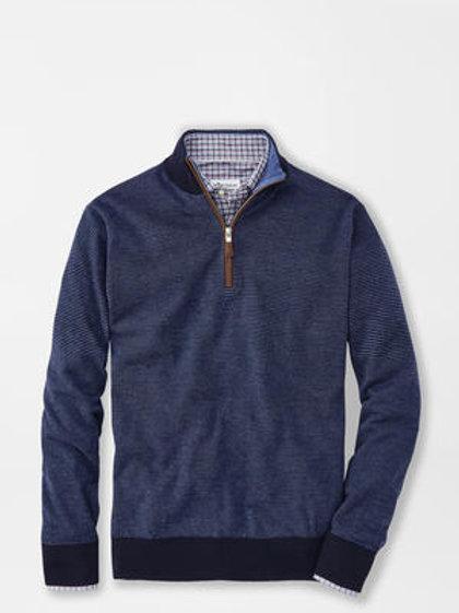 Peter Millar Needle Stripe 1/4 Zip Sweater
