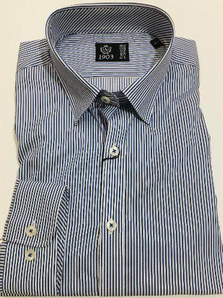 Forsyth of Canada Italian Cotton Fine Line Stripe Shirt