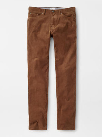 Peter Millar Superior Soft Corduroy 5 Pocket Pant-Scotch