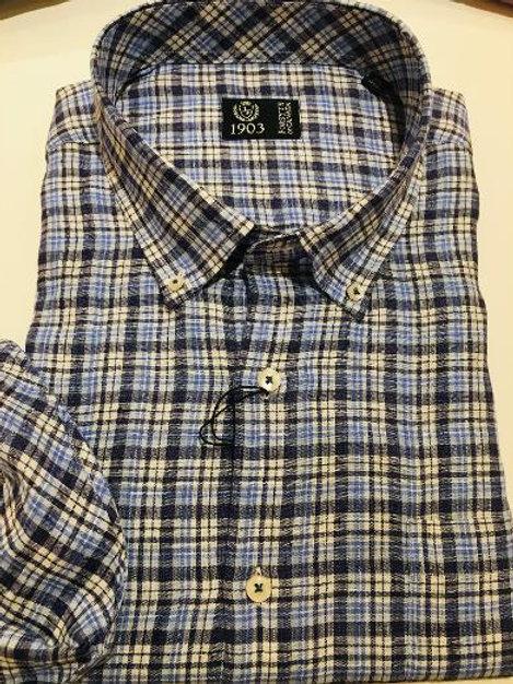 Forsyth of Canada Italian Linen Plaid Shirt