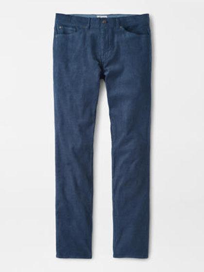 Peter Millar Superior Soft Corduroy 5 Pocket Pant-Flint Blue