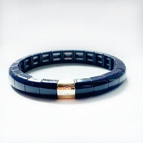 Tile Tube Bracelet- Navy