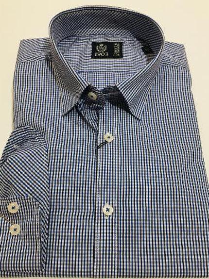 Forsyth of Canada Italian Cotton Mini Check Shirt
