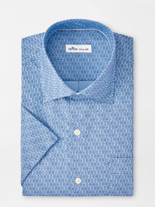 "Peter Millar ""Time To Get A Watch"" Cotton Blend Sportshirt"