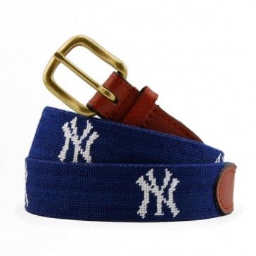 Smathers and Branson New York Yankees Needlepoint Belt