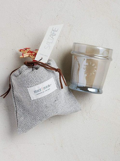 Saltaire Herringbone Sandbag Candle