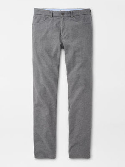 "Peter Millar Flannel Five Pocket Pant- Color ""British Gray"""