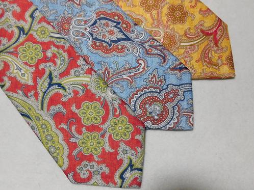 J. Alden Signature Linen Paisley Neckties