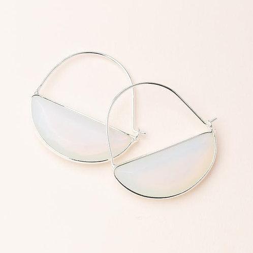 Stone Prism Hoop - Opalite/Silver