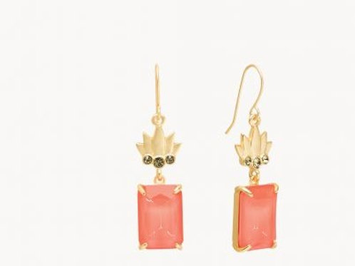 Pineapple Earring Coral