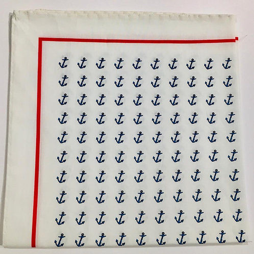 J. Alden Signature Cotton Anchor Pocket Square