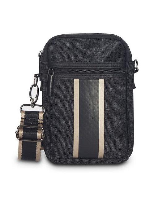 Black Denim Cell Phone Bag - Grand