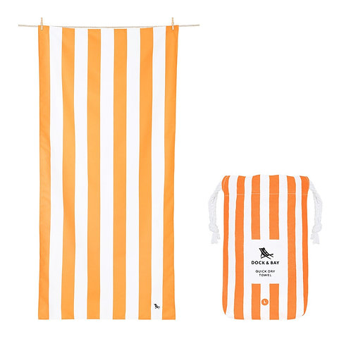 Quick Dry Cabana Beach Towel Ipanema Orange