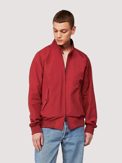 Baracuta G9 Harrington Jacket-Dark Red