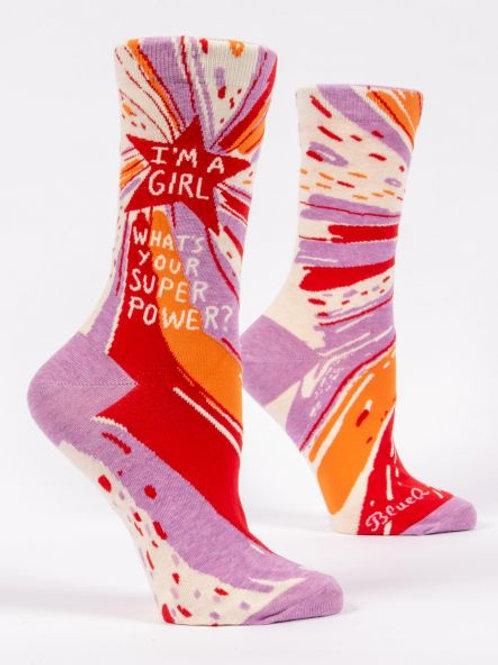 Women's Blue Q Superpower Sock