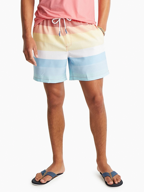 Southern Tide Galley Striped Swim Trunk
