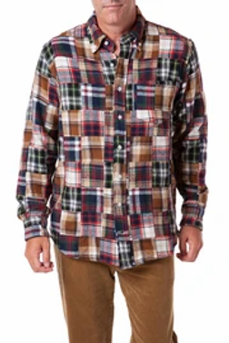 Castaway Chase Shirt in Fall Patch Madras