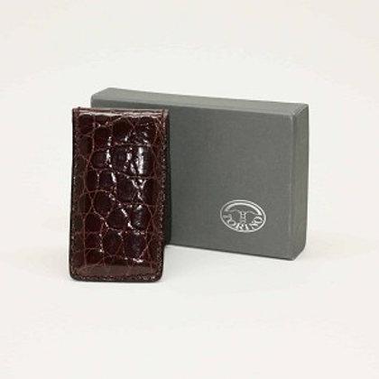 Torino Alligator Skin Magnetic Money Clip