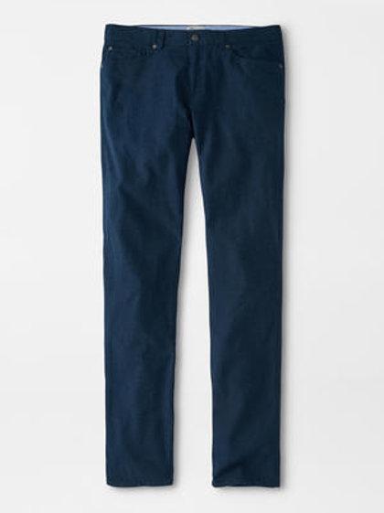 "Peter Millar Flannel Five Pocket Pant- Color ""Atlantic Blue"""