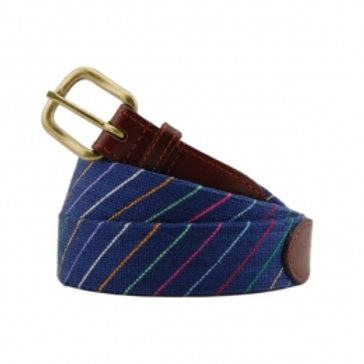Smathers & Branson Carter Stripe  Needlepoint Belt