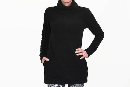 Fleece Tunic in Black