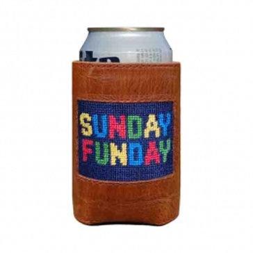 Smathers & Branson Needlepoint Sunday Funday Can Cooler