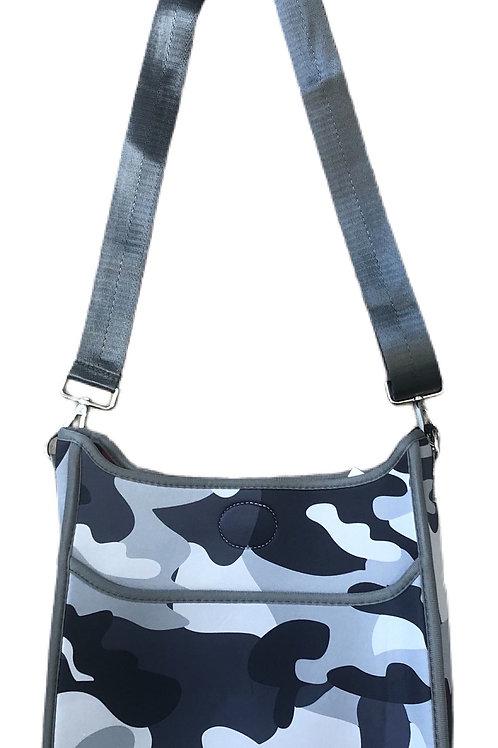 Grey Camo Messenger Bag