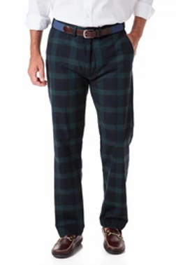 Castaway Festive Plaid Harbor Pant in Blackwatch