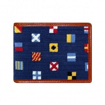 Smathers & Branson Mixed Signals Needlepoint Bi-Fold Wallet