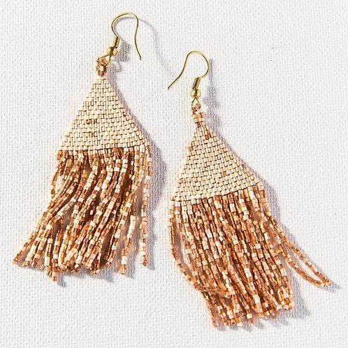 Rose Gold Fringe Earrings