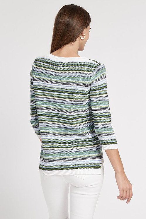 Stitched Striped Sweater - Tyler Boe