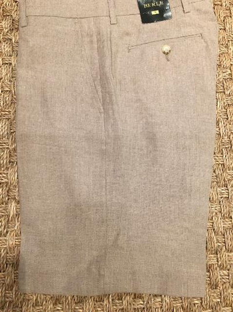 Berle Khaki Linen Shorts