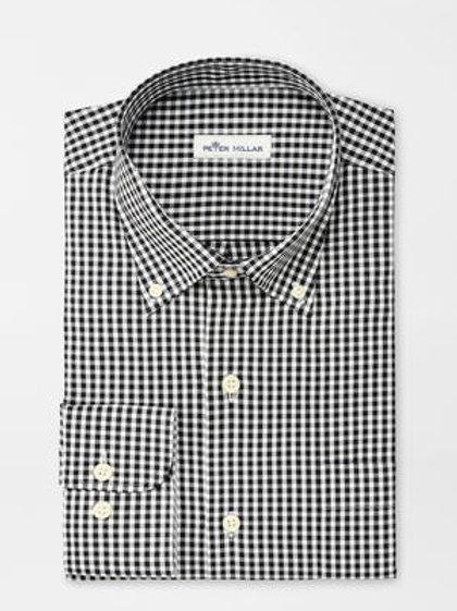 Peter Millar Crown Soft Gingham Sportshirt in Black