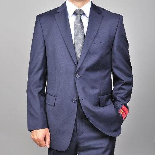 Mantoni Suit-Navy Blue