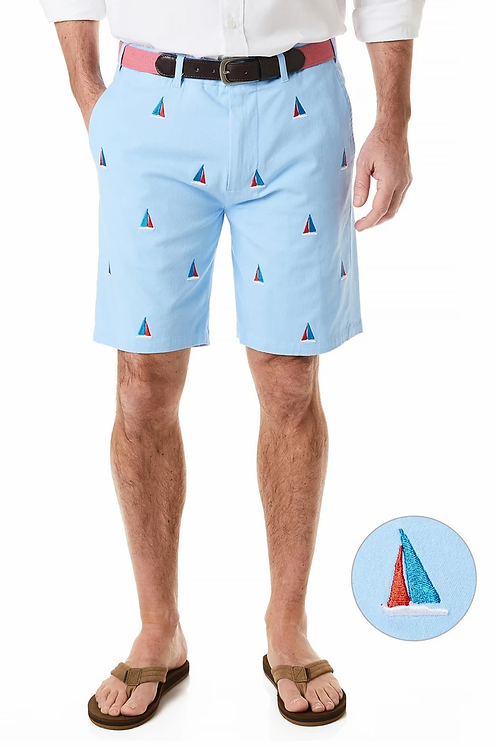 Castaway Cisco Stretch Short Liberty with Americana Sailboat