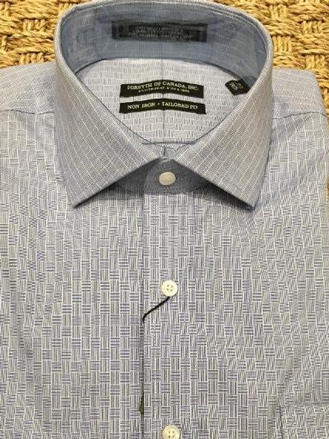 Forsyth of Canada Mens Wrinkle Free Dress Shirt--Denim