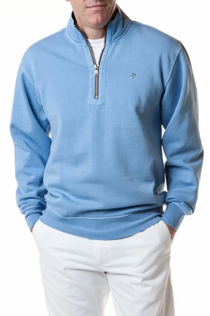 Castaway Breakwater 1/4 Zip Sweatshirt-Squall Blue