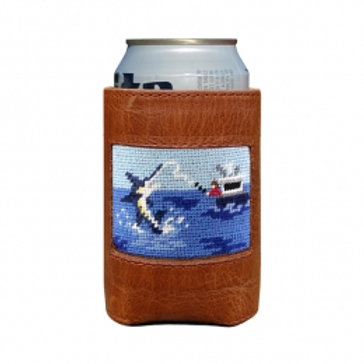 Smathers and Branson Off Shore Fishing Needlepoint Can Cooler